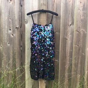 Mini Dress with Large Sequins